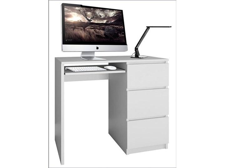 nowoczesne biurko prawostronne blanco 2x - biały mat Styl Skandynawski Szerokość 98 cm Biurko tradycyjne Szerokość 51 cm Styl Nowoczesny