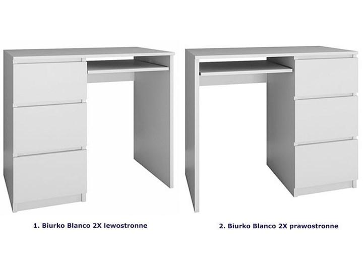 nowoczesne biurko prawostronne blanco 2x - biały mat Szerokość 98 cm Biurko tradycyjne Szerokość 51 cm Styl Skandynawski