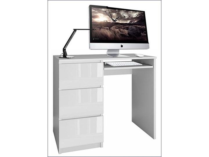 Nowoczesne biurko lewostronne Blanco 3X - biały połysk Biurko tradycyjne Styl Skandynawski Szerokość 51 cm Szerokość 98 cm Styl Nowoczesny