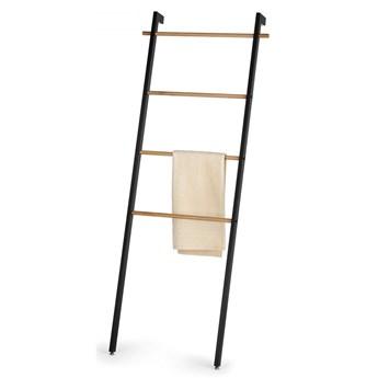 Wieszak łazienkowy na ręczniki drabinka Kela metal drewno dębowe kod: KE-24263