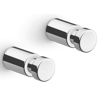 Wieszaki łazienkowe ścienne 2szt. 3,5cm Aivo Zack stal polerowana kod: ZACK-40402