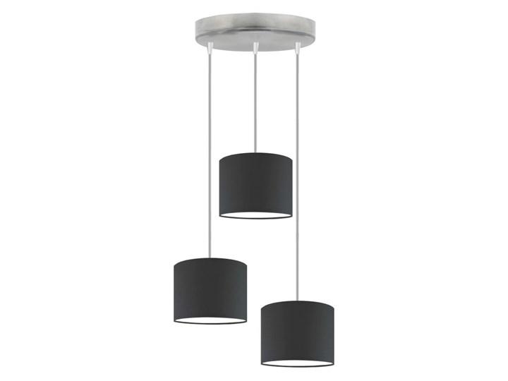 Żyrandol do jadalni nad stół PUEBLO WYSYŁKA 24H Stal Tkanina Metal Chrom Lampa z abażurem Pomieszczenie Jadalnia Beton Kategoria Lampy wiszące