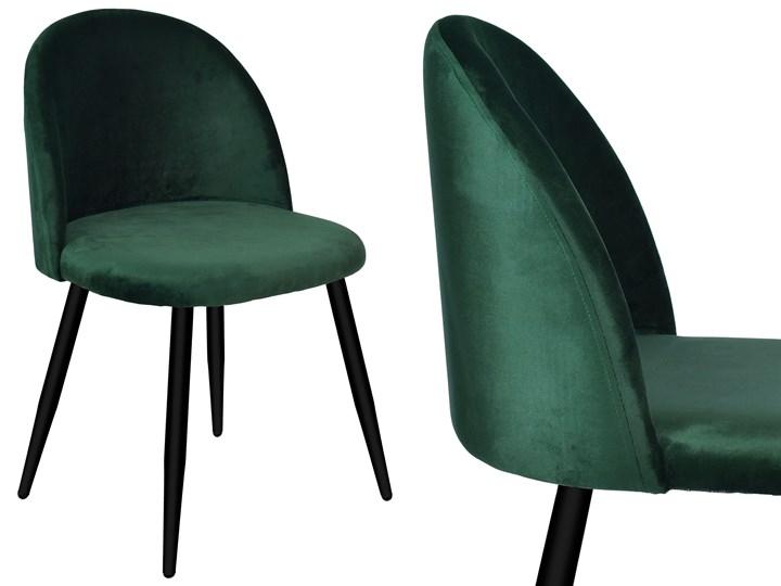Krzesło tapicerowane Soul Velvet zielone Wysokość 48 cm Głębokość 48 cm Wysokość 41 cm Wysokość 33 cm Szerokość 49 cm Wysokość 79 cm Welur Krzesło inspirowane Szerokość 48 cm Wysokość 47 cm Tworzywo sztuczne Wysokość 78 cm Metal Tkanina Głębokość 42 cm Styl Glamour
