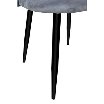 Krzesło tapicerowane Soul Velvet grafitowy