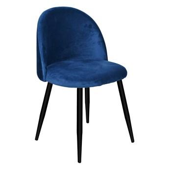 Krzesło aksamitne K-SOUL VELVET granatowe