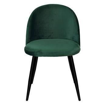 Krzesło aksamitne K-SOUL VELVET zielone