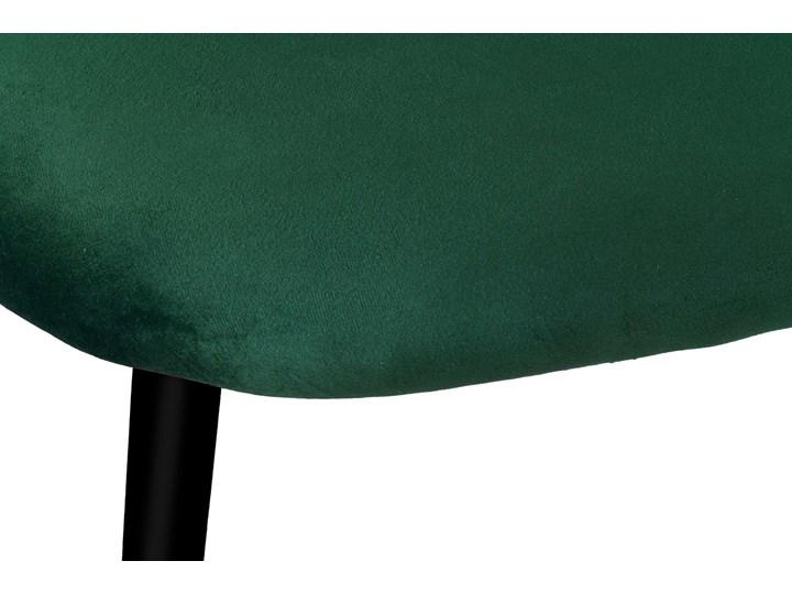 Krzesło aksamitne K-SOUL VELVET zielone Tapicerowane Wysokość 47 cm Wysokość 33 cm Wysokość 48 cm Skóra Tworzywo sztuczne Tkanina Welur Głębokość 42 cm Wysokość 41 cm Szerokość 49 cm Wysokość 78 cm Metal Wysokość 79 cm Szerokość 48 cm Głębokość 48 cm Styl Nowoczesny