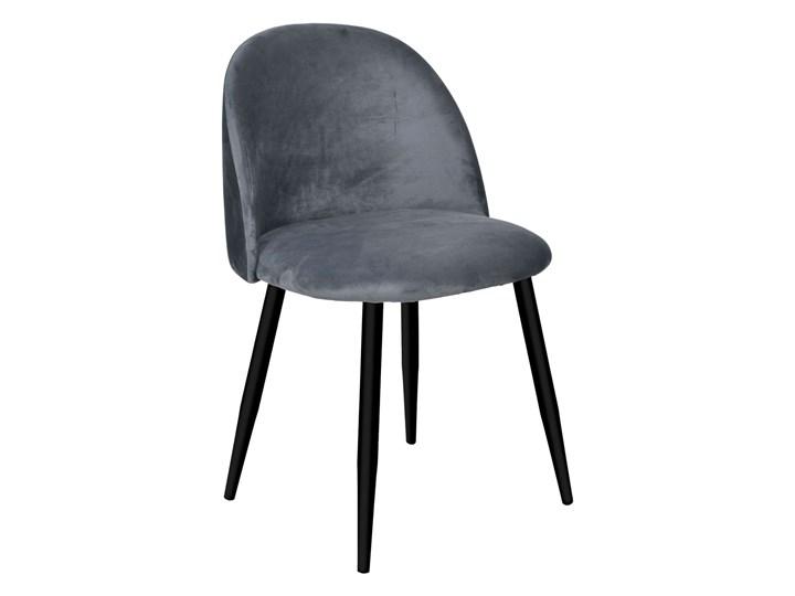Krzesło aksamitne K-SOUL grafitowe Szerokość 48 cm Wysokość 41 cm Styl Nowoczesny Tkanina Metal Wysokość 33 cm Skóra Szerokość 49 cm Wysokość 48 cm Głębokość 48 cm Głębokość 42 cm Kolor Szary