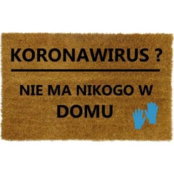 Wycieraczka z napisem KORONAWIRUS