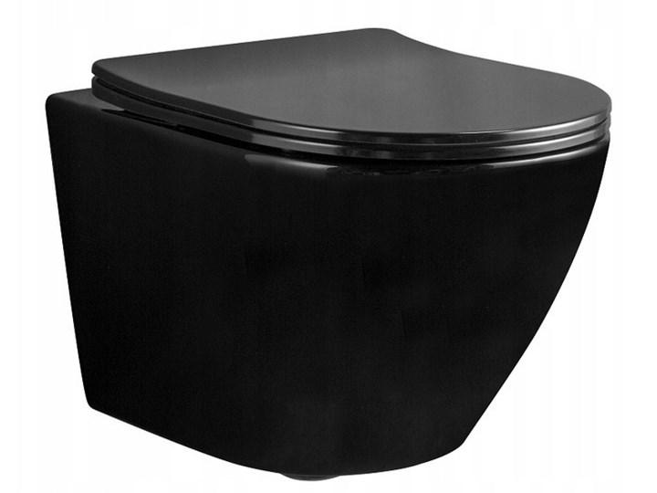 Misa WC podwieszana Carlo Mini Flat Rimless Black