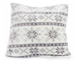Poszewka na poduszkę snow jasiek 40x40 light grey