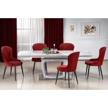 Pikowane krzesło do salonu Kordo - popiel