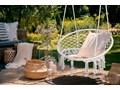Krzesło fotel wiszący huśtawka TOGO CREAM Wiszące Metal Kolor Szary