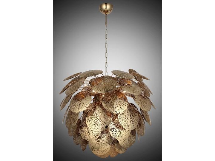 Designerski złoty żyrandol 1511-75-28 BODEGA SALON SYPIALNIA JADALNIA HOTEL LUCEA Lampa szyszka Kategoria Lampy wiszące Metal Funkcje Brak dodatkowych funkcji