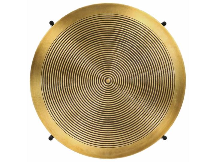 vidaXL Zestaw 2 stolików, płyta MDF pokryta mosiądzem Stal Zestaw stolików Metal Kategoria Stoliki i ławy