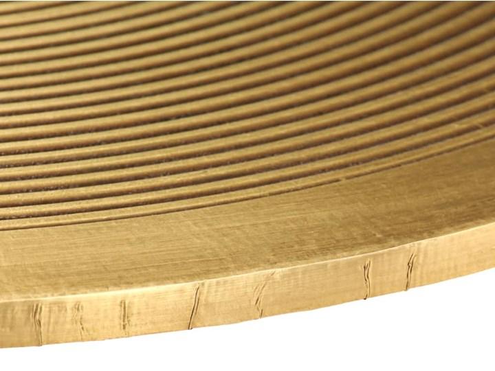 vidaXL Zestaw 2 stolików, płyta MDF pokryta mosiądzem Stal Zestaw stolików Metal Kolor Złoty Rodzaj nóg Proste