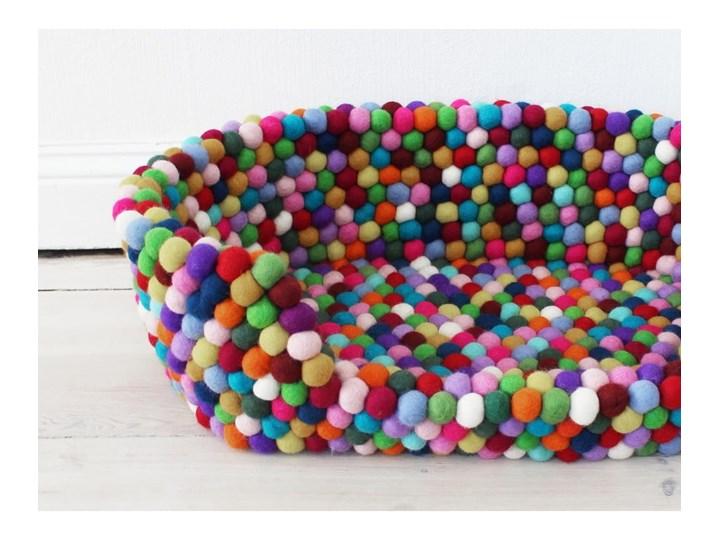 Kulkowe wełniane legowisko dla zwierząt Wooldot Ball Pet Basket Multi, 40x30 cm Tkanina Kolor Wielokolorowy Uniwersalna Kategoria Legowiska dla zwierząt