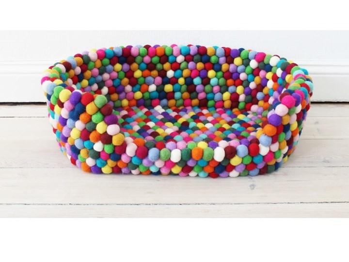 Kulkowe wełniane legowisko dla zwierząt Wooldot Ball Pet Basket Multi, 40x30 cm Uniwersalna Kategoria Legowiska dla zwierząt Tkanina Kolor Wielokolorowy