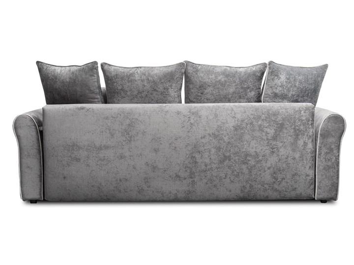 Sofa NEW YORK z funkcją spania Stała konstrukcja Typ Gładkie Kolor Szary
