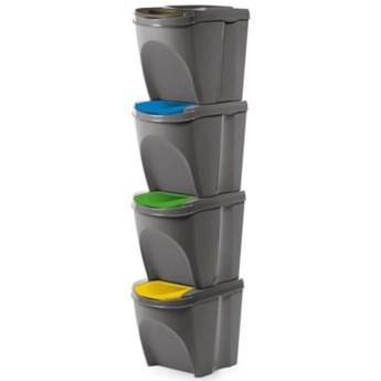 Kosz na śmieci PROSPERPLAST IKWB20S4-405U (4x25l) Wielokolorowy