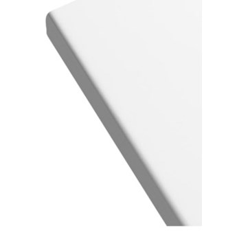 Blat łazienkowy GoodHome Marloes 45 x 100 cm biały lakier