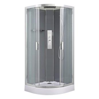 Kabina prysznicowa półokrągła GoodHome Beloya 90 cm chrom z hydromasażem