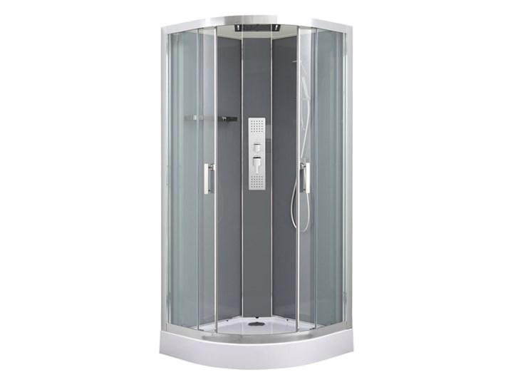 Kabina prysznicowa półokrągła GoodHome Beloya 90 cm chrom z hydromasażem Narożna Wysokość 220 cm Rodzaj drzwi Rozsuwane