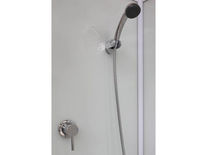 Kabina prysznicowa kwadratowa Arkell 80 cm z tylnymi ściankami i niskim brodzikiem Przyścienna Kategoria Kabiny prysznicowe Kolor Srebrny