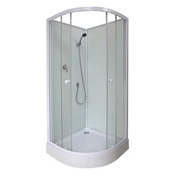 Kabina prysznicowa półokrągła Arkell 85 cm z tylnymi ściankami i niskim brodzikiem