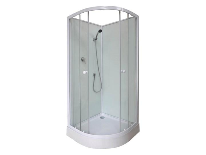 Kabina prysznicowa z hydromasażem Arkell 85 cm półokrągła niski brodzik Wysokość 200 cm Narożna Rodzaj drzwi Rozsuwane