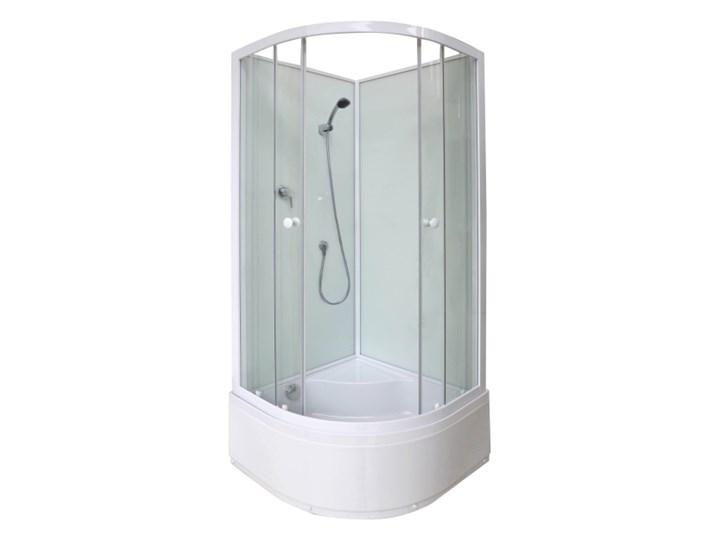 Kabina prysznicowa półokrągła Arkell 85 cm z tylnymi ściankami i wysokim brodzikiem