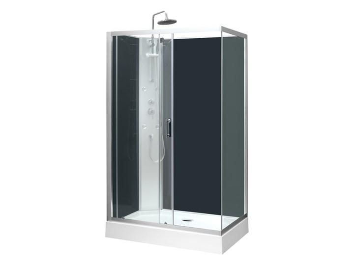 Kabina prysznicowa z hydromasażem Onega 80 x 120 cm asymetryczna niski brodzik Prostokątna Wysokość 225 cm Niestandardowa Rodzaj drzwi Rozsuwane