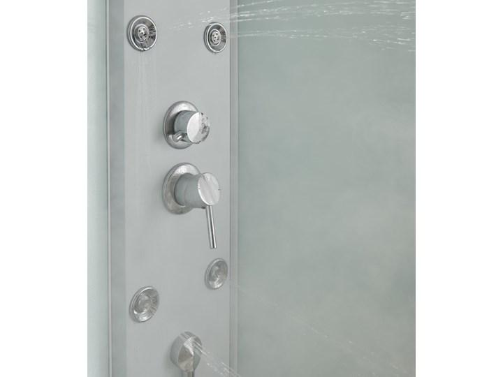 Kabina prysznicowa z hydromasażem Onega 85 cm półokrągła niski brodzik biała Narożna Wysokość 225 cm Kolor Biały Rodzaj drzwi Rozsuwane