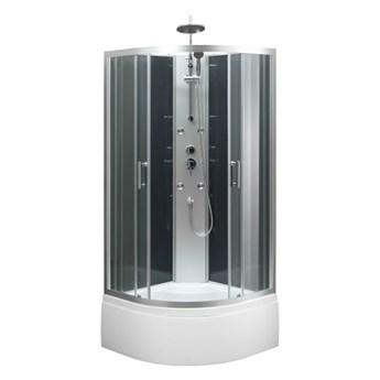 Kabina prysznicowa z hydromasażem Onega 85 cm półokrągła wysoki brodzik