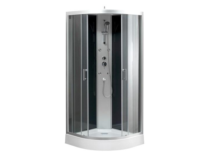 Kabina prysznicowa z hydromasażem Onega 90 cm półokrągła dach niski brodzik Narożna Wysokość 215 cm Rodzaj drzwi Rozsuwane