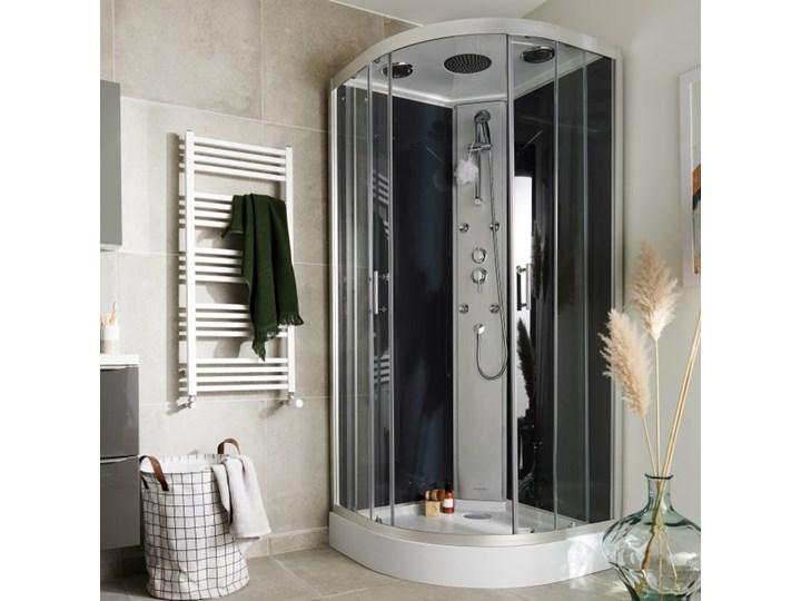 Kabina prysznicowa z hydromasażem Onega 90 cm półokrągła dach niski brodzik Wysokość 215 cm Narożna Rodzaj drzwi Rozsuwane