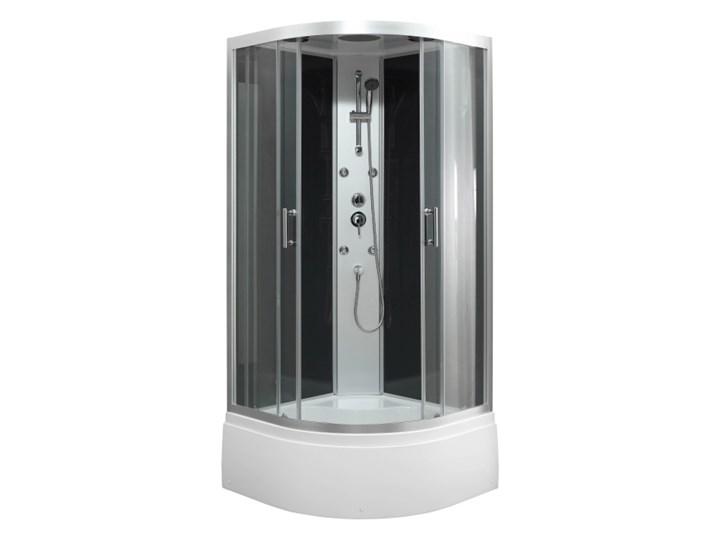 Kabina prysznicowa z hydromasażem Onega 90 cm półokrągła dach wysoki brodzik Narożna Wysokość 215 cm Rodzaj drzwi Rozsuwane