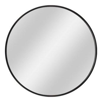 Lustro okrągłe Dubiel Vitrum Nico 60 cm w ramie czarne