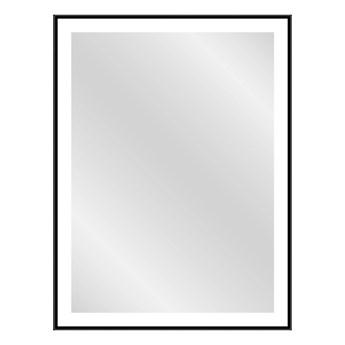 Lustro prostokątne Dubiel Vitrum Logan 60 x 80 cm w ramie czarne