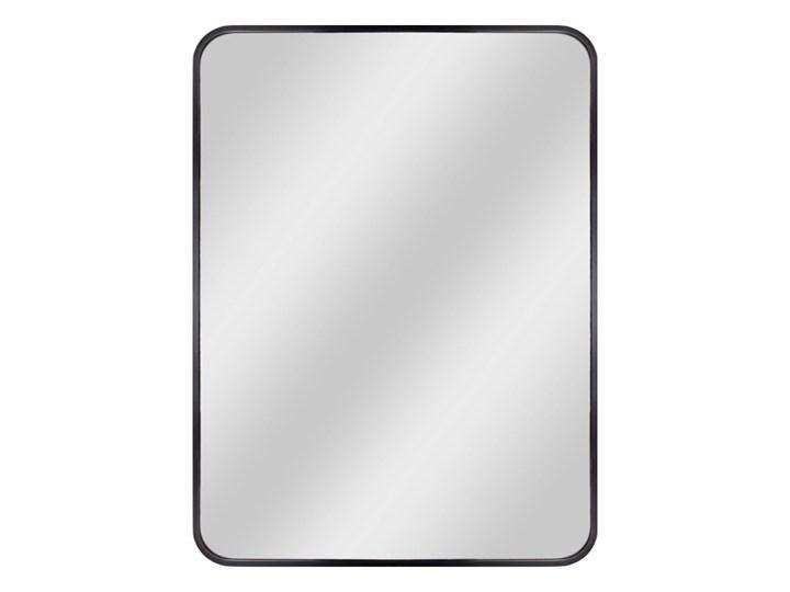 Lustro prostokątne Dubiel Vitrum Nico 50 x 70 cm w ramie czarne Lustro z ramą Kwadratowe Ścienne Lustro z półką Kolor Czarny