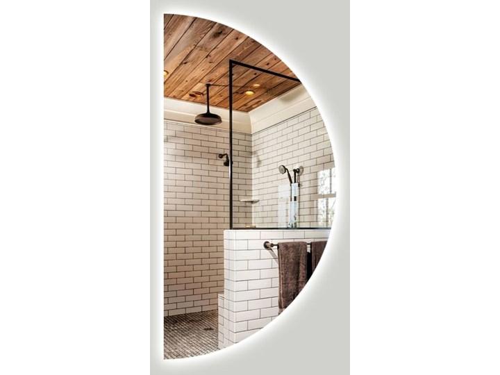 Lustro Moon + Ambilight Lustro bez ramy Owalne Okrągłe Ścienne Pomieszczenie Salon