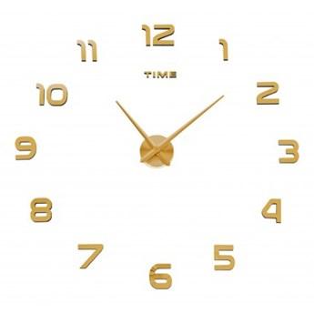 Zegar ścienny DIY NEPRI 65 - 130 cm - złoty 3D