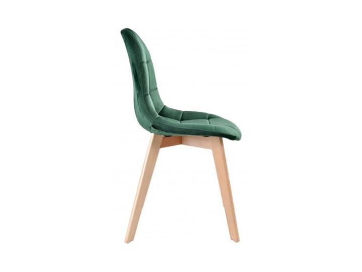 Krzesło aksamitne K-Austin dsw welur ciemno zielony Głębokość 38 cm Wysokość 83 cm Tkanina Szerokość 45 cm Pikowane Wysokość 50 cm Drewno Tapicerowane Styl Vintage