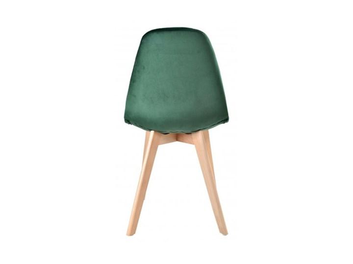 Krzesło aksamitne K-Austin dsw welur ciemno zielony Głębokość 38 cm Tapicerowane Drewno Tkanina Wysokość 50 cm Wysokość 83 cm Pikowane Szerokość 45 cm Pomieszczenie Jadalnia
