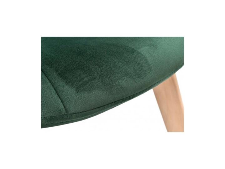 Krzesło aksamitne K-Austin dsw welur ciemno zielony Głębokość 38 cm Wysokość 83 cm Tapicerowane Drewno Wysokość 50 cm Tkanina Szerokość 45 cm Pikowane Pomieszczenie Jadalnia
