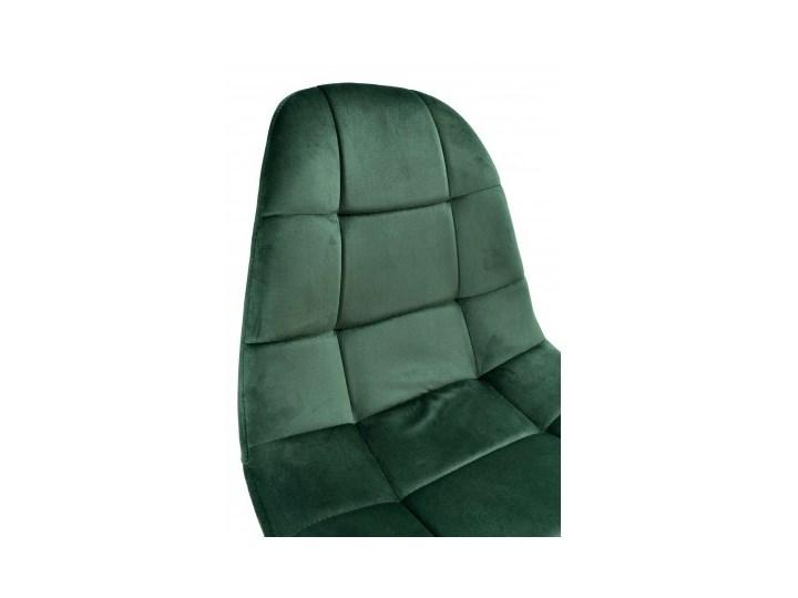 Krzesło aksamitne K-Austin dsw welur ciemno zielony Szerokość 45 cm Pikowane Drewno Głębokość 38 cm Wysokość 50 cm Tapicerowane Tkanina Wysokość 83 cm Styl Skandynawski