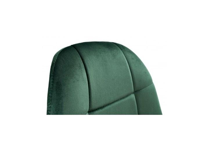 Krzesło aksamitne K-Austin dsw welur ciemno zielony Szerokość 45 cm Tapicerowane Wysokość 83 cm Drewno Głębokość 38 cm Wysokość 50 cm Pikowane Tkanina Pomieszczenie Salon