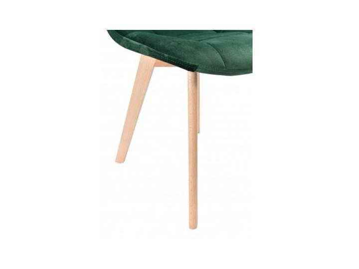 Krzesło aksamitne K-Austin dsw welur ciemno zielony Pikowane Drewno Szerokość 45 cm Tkanina Głębokość 38 cm Wysokość 50 cm Tapicerowane Wysokość 83 cm Pomieszczenie Jadalnia