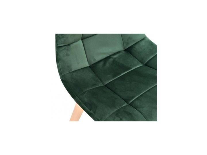 Krzesło aksamitne K-Austin dsw welur ciemno zielony Szerokość 45 cm Wysokość 83 cm Tapicerowane Tkanina Głębokość 38 cm Pikowane Drewno Wysokość 50 cm Pomieszczenie Jadalnia