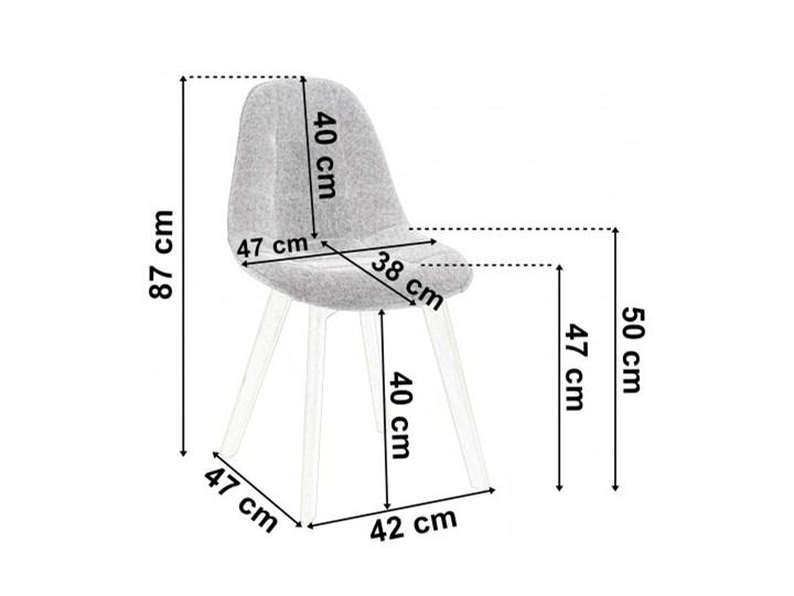 Krzesło aksamitne K-Austin dsw welur ciemno zielony Drewno Pikowane Wysokość 83 cm Tapicerowane Wysokość 50 cm Głębokość 38 cm Tkanina Szerokość 45 cm Styl Skandynawski